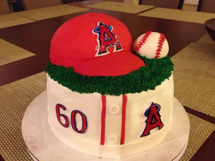 Angels Baseball Themed Cake
