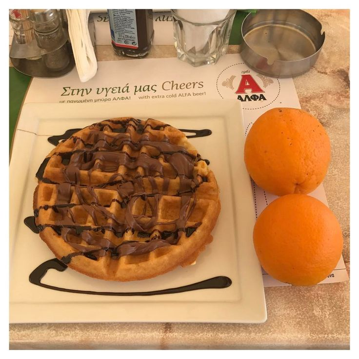 Because it's all about the balance, right? waffle and Nutella for breakfast. I'm estimating 11pp, no idea on SP as I can't get on the app  the waffle was balanced out with two oranges    .  Waffles are officially out of my system now - they were good, but I don't think any will ever live up to those we had in Santorini last year - if you're going to santorini - Perivolos - then you MUST try them - the best ever waffles! .  Alpen Light bars and fruit salad will resume tomorrow