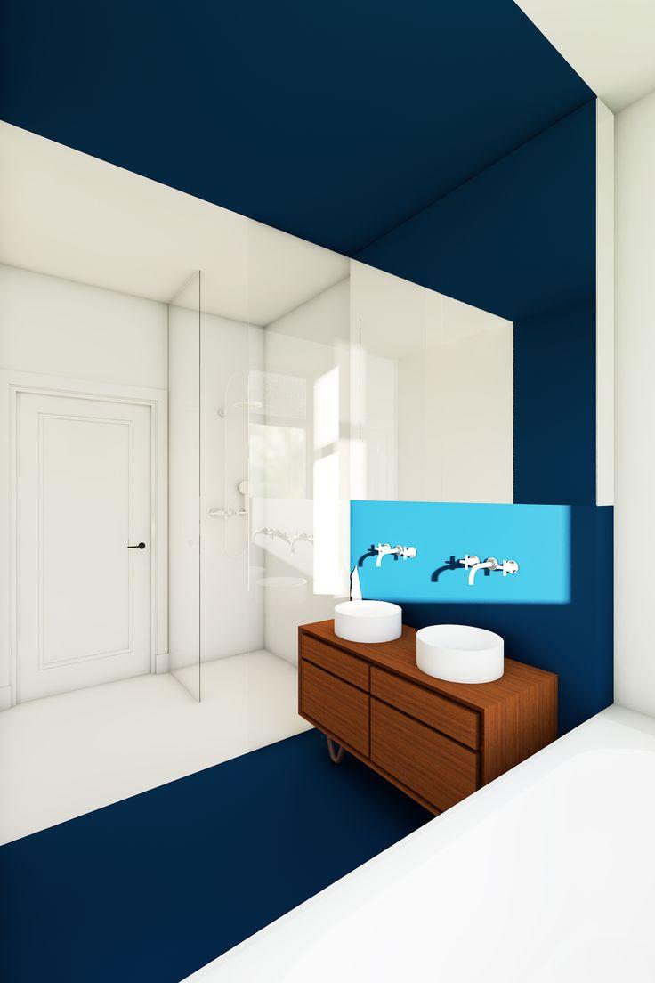 25 beste idee n over blauw witte badkamers op pinterest lichtblauwe badkamers en badkamer - Badkamer blauw ...