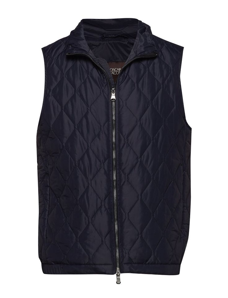 Oscar Jacobson Liner pin Waist Coat Navy