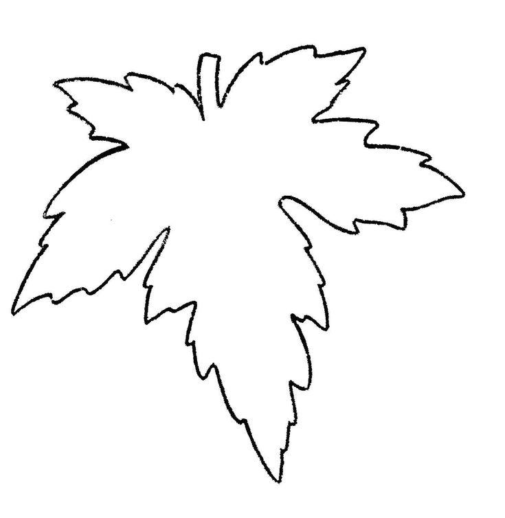 Кленовый лист шаблоны для вырезания, днем