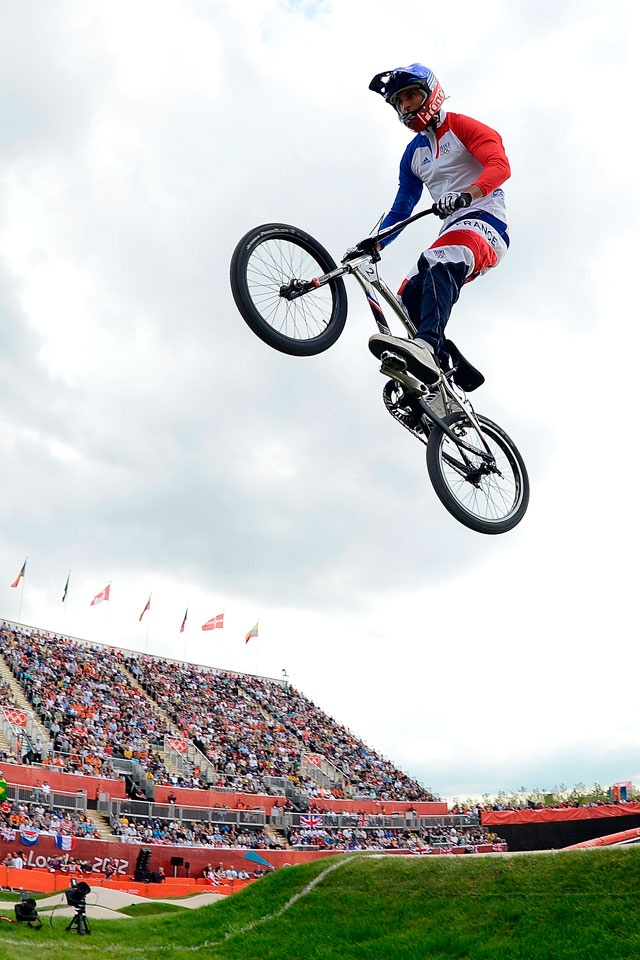 Joris Daudet of France competes during the Women's BMX Cycling on Day 12 of the London 2012 Olympic Games at BMX Track on August 8, 2012 in London, England.  2012 Getty Images