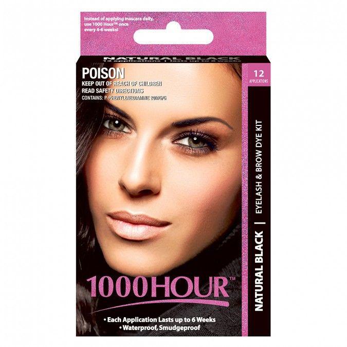 1000 Hour Eyelash & Brow Dye Kit Natural Black 1 Kit $15.20