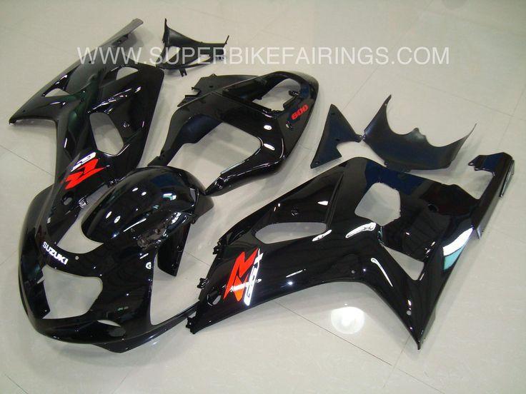 2001-2003 GSXR-600 750 Black Suzuki Fairings