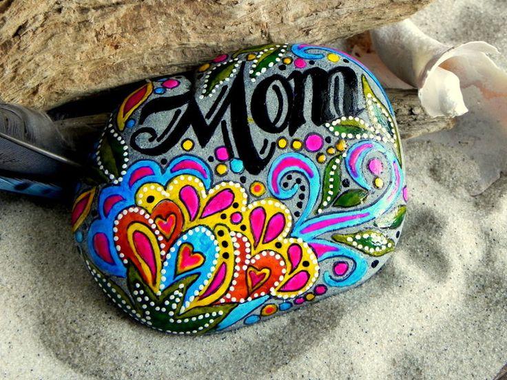 I love you Mom / Painted Rock / Sandi Pike Foundas.