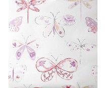 Caselio Vlinderbehang in lila roze