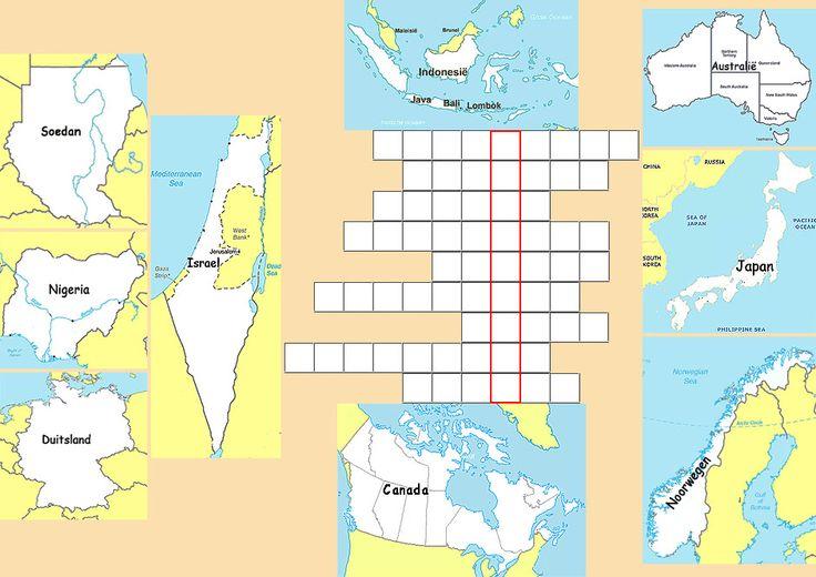 Puzzel doen het altijd goed - aardrijkskunde puzzel