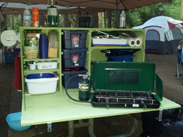 This Is The Camp Kitchen My Husband And I Built, It Makes Cooking A Whole