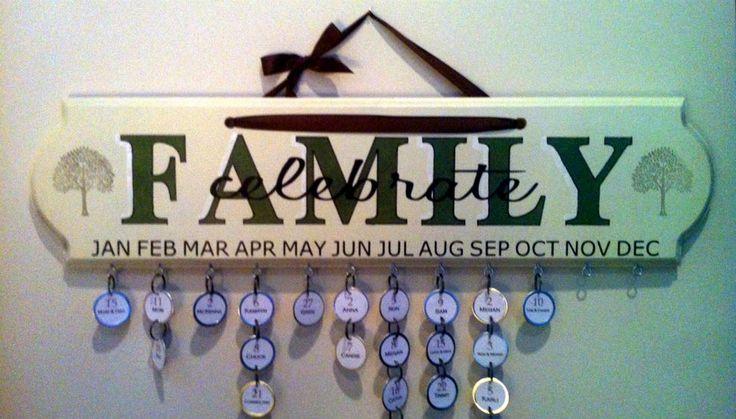Best 8 Family Birthdays Plaque Ideas On Pinterest Family