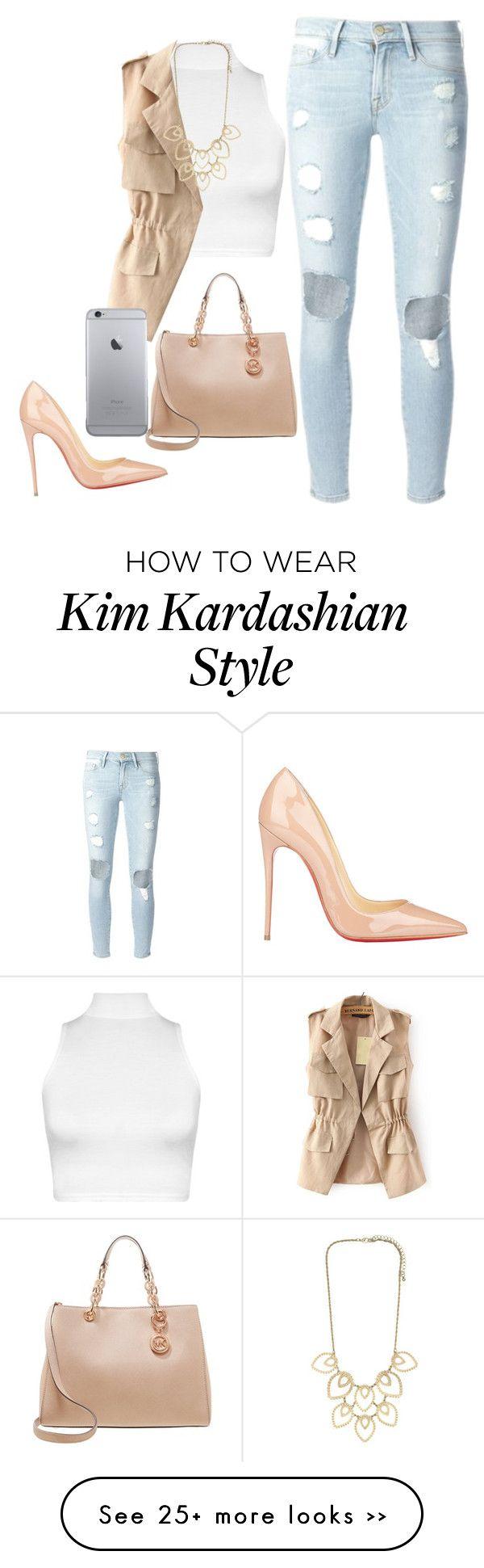 """Kim Kardashian look"" by gabymailk on Polyvore"