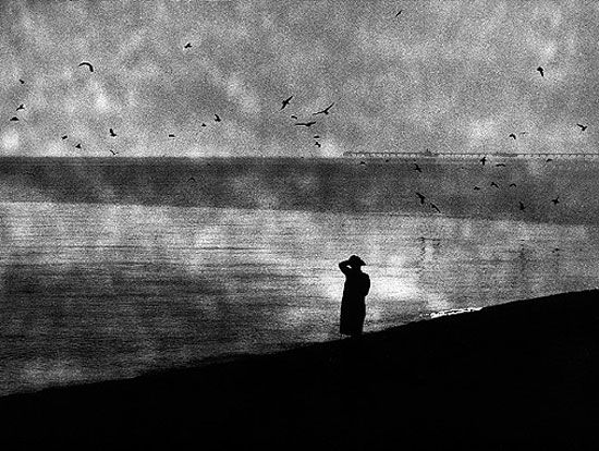 Mario Giacomelli :: from 'La Notte Lava la Mente' series, 1986-96 / more [+] by this photographer