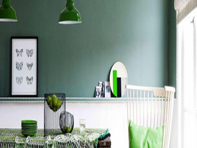 Peinture Cuisine Vert Et Gris  Couleur de peinture pour la cuisine