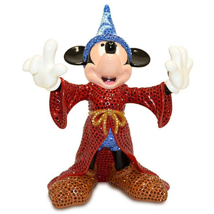 Создан специально для Walt Disney Worldкурорт и Диснейлендкурорт  Волшебный Микки Маус фигурка Воодушевленный '' ученик '' сегмента  Уолта Диснея фантазия (1940) Созданный всемирно известного Arribas Brothers Комплект с больше чем 2977 Swarovski® камни Включает сертификат подлинности Ограниченный тираж 500 Смола 12'' H x 10'' Ш x 7'' D Импортированные