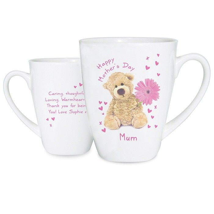 Teddy Flower Latte Mug - Price £10.99 Free UK Delivery