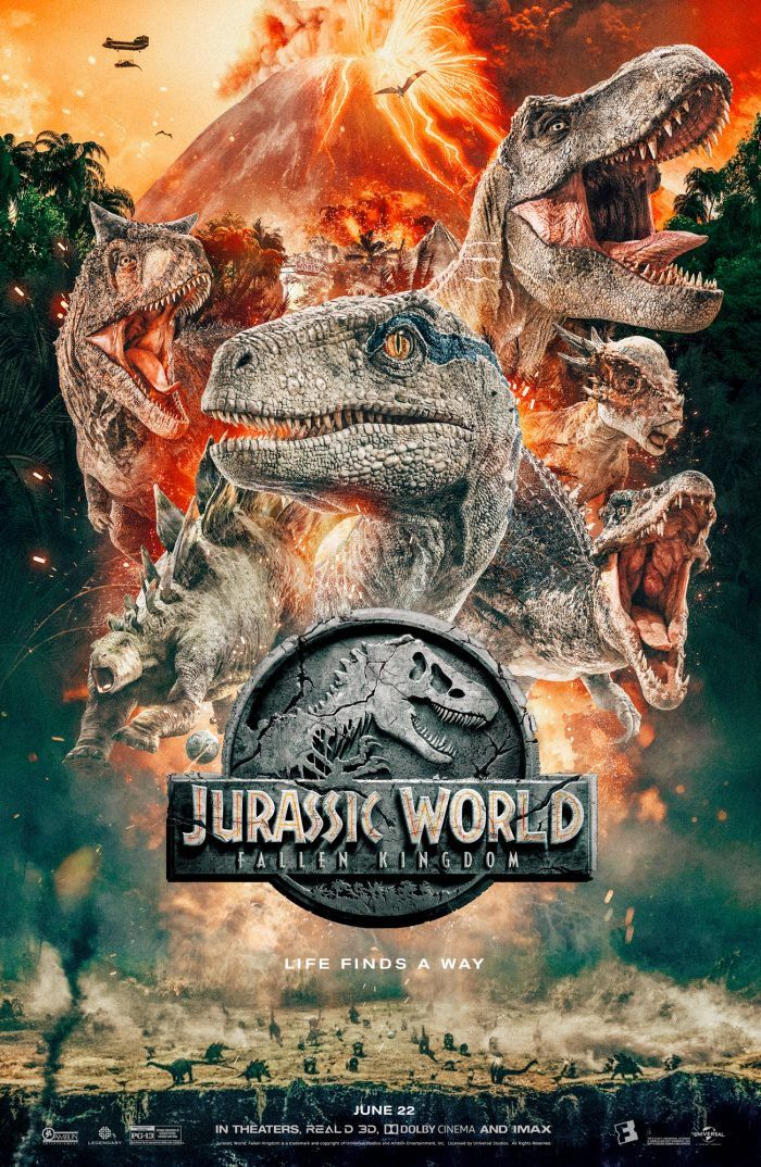 JURASSIC WORLD Movie PHOTO Print POSTER Textless Film Art The Park Is Open 004