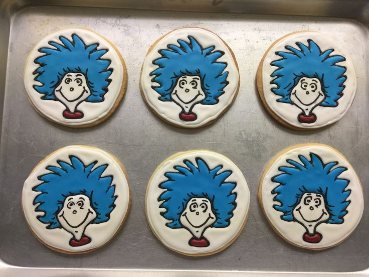 Twins thing 1&2 birthday cookies