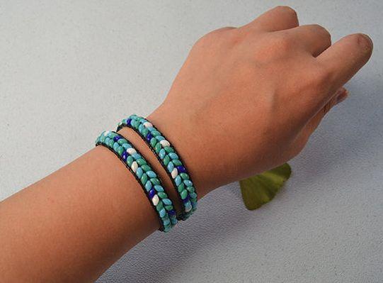 Two-Hole Bead Double Wrap Bracelet | AllFreeJewelryMaking.com