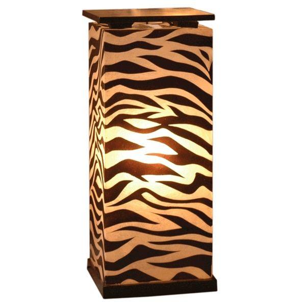 Decorative Topeka Brown Zebra Transitional Floor Lamp