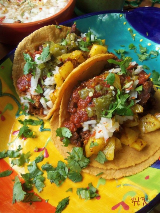 "Tacos ""Al Pastor"" HispanicKitchen.com"