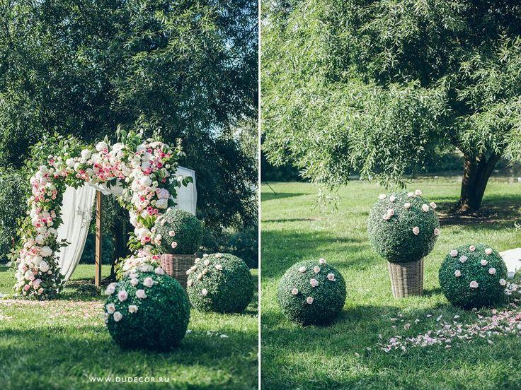 свадьба в розовых цветах - Double Unique - студия декора, флористики и дизайна