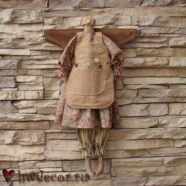 Примитивная кукла Ангел Весна (из набора)