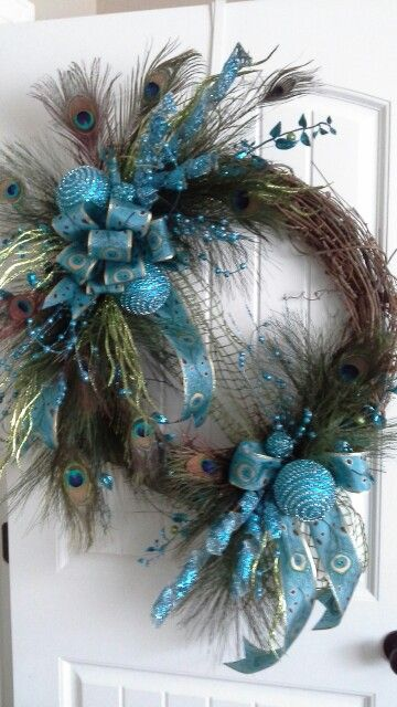 Peacock Christmas wreath by kyong