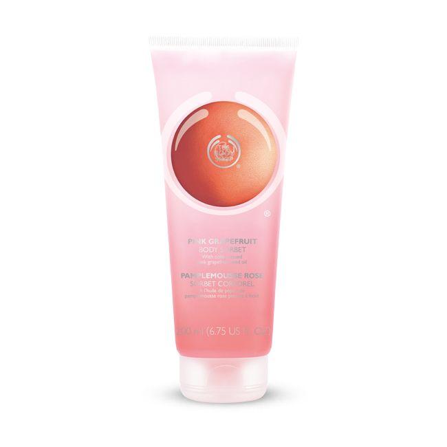 Een verfrissende Body Sorbet met de heerlijke geur van Pink Grapefruit.