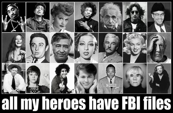 All My Heroes Have FBI Files; countless not pictured animal rights/liberation activists and environmentalists, as well...