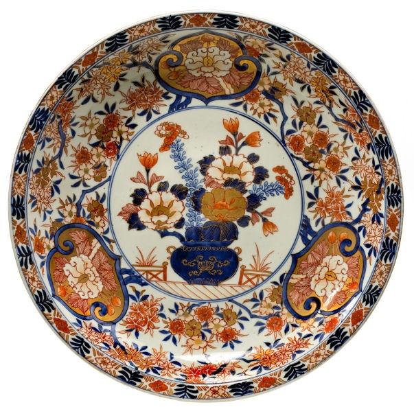 A large 18th century Imari dish--I think Imari is my favorite indulgence