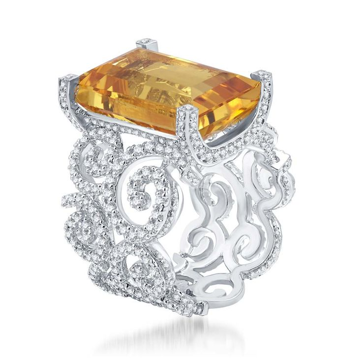 Yellow Citrine Signature Ring Product Code : ADR1400009  Type : Yellow Hydro, Swarovski   Color : Yellow    #SilverRingsForWomen, #SilverRingsForGirl, #BuySilverRingsOnlineIndia,   #SilverRingsShopping, #SilverRingsShoppingOnline, #DesignerRings,   #DesignerSilverRingsOnline, #BuyDesignerSilverRings