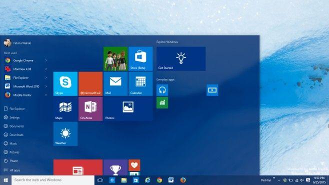 Set The Start Menu Color Based On Your Desktop Background In Windows 10