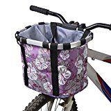 Docooler Cesta de Lona Frontal Desmontable de Bicicleta Marco de la Aleación de Aluminio del Bolso del Animal Doméstico de la Bici