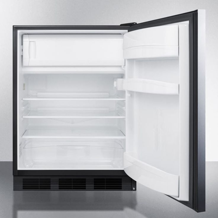 AccuCold AL652BBISSHH 24 Inch Built-In Under-Counter Refrigerator with 5.1 cu. ft. Capacity, 3 Adjustable Glass Shelves, Freezer Compartment