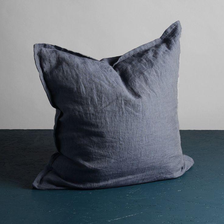 Pure Dekorationskudde 60x60cm, Plum, Dirty Linen