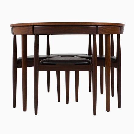 Mid Century Roundette Esszimmerstühle Mit Tisch Von Hans Olsen Für Fre...  Jetzt