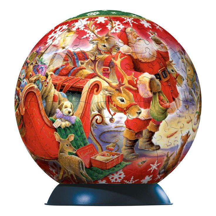 Ravensburger Christmas Puzzleball Santa's Midnight Snack Puzzle (240-Piece): Amazon.co.uk: Toys & Games