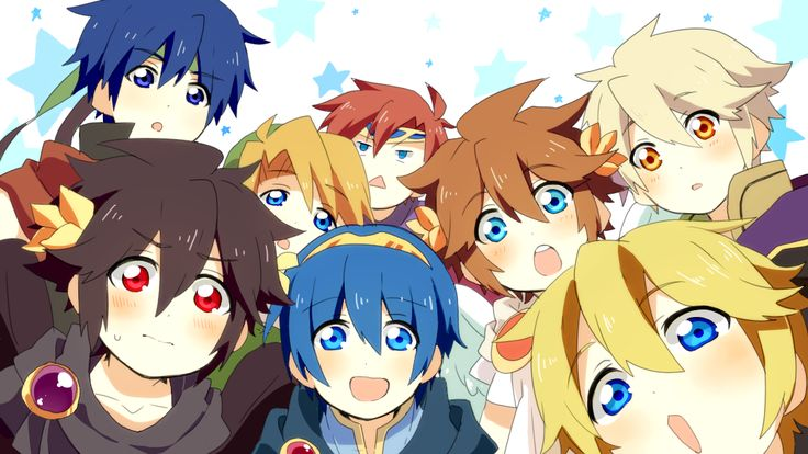 Ike, Marth, Dark Pit, Pit, Link, Shulk, Robin, and is that Roy I see in the back?