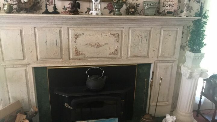 How Do I Remove Two Layers Of Crackle Paint From My Fireplace Mantel Fireplace Mantels Crackle Painting Fireplace