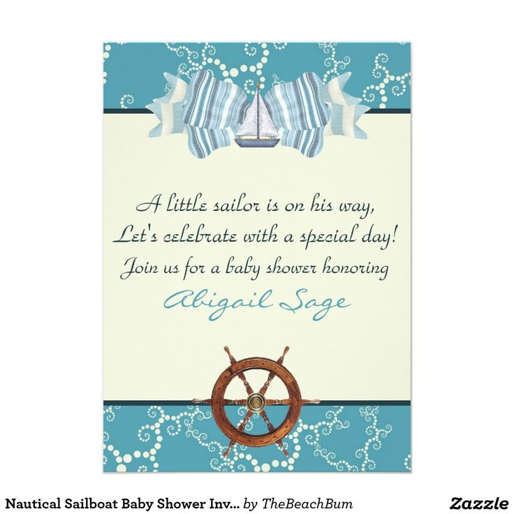 Little Sailor Boy Nautical Baby Shower Card – unitedarmy.info