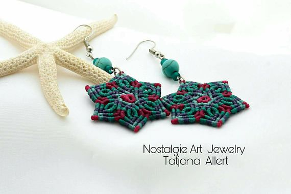 Hey, I found this really awesome Etsy listing at https://www.etsy.com/listing/541588683/macrame-earrings-micro-macrame-earrings