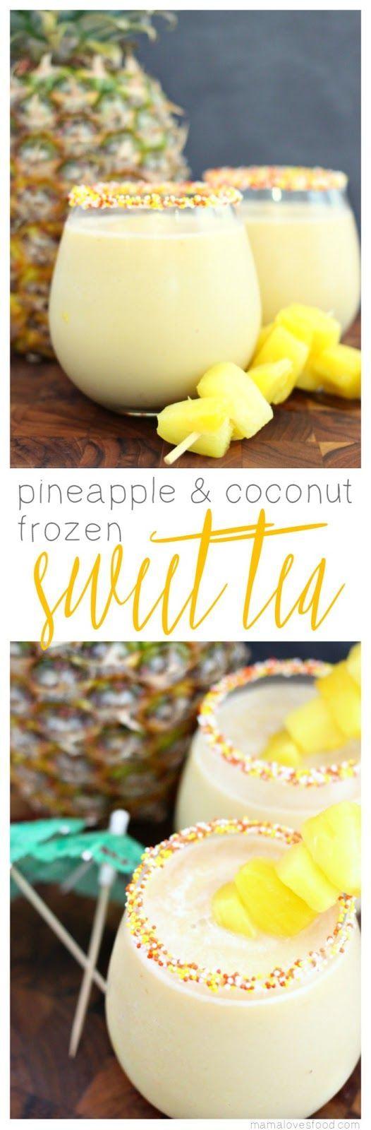 Pineapple & Coconut Frozen Sweet Tea Recipe