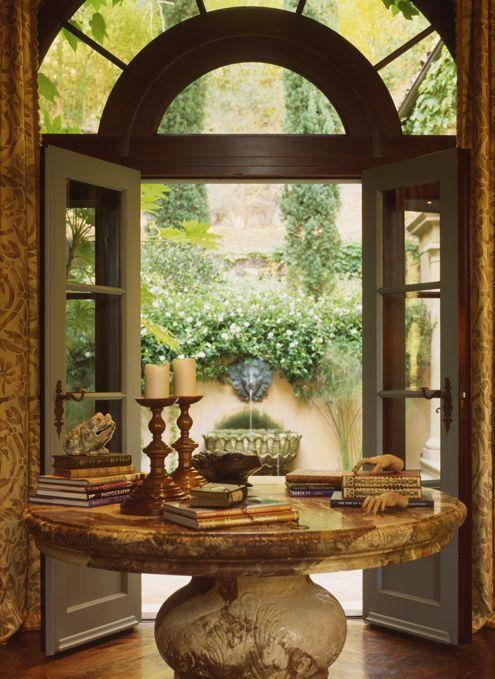 Alpendre mesa alterada para jarrao de barro pintado e tampo de madeira ou mármore
