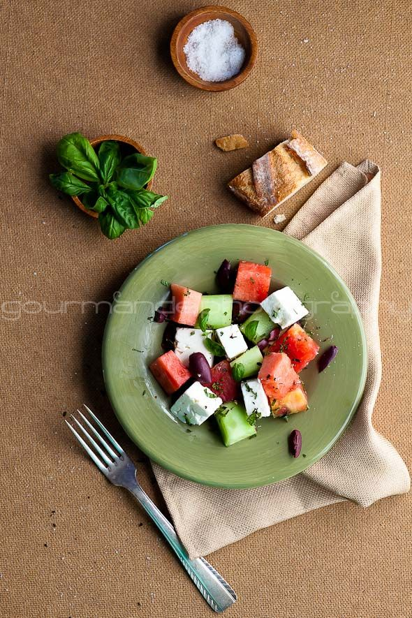 Watermelon, Heirloom Tomato and Feta Salad   Picking the Perfect Melon