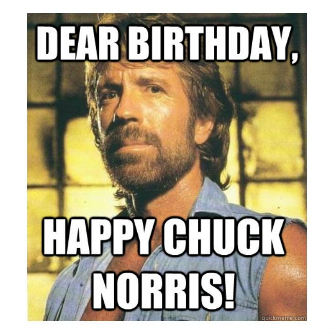 Chuck Norris Birthday : Late… But Is It Really? Dear Birthday… Happy Chuck Norris!