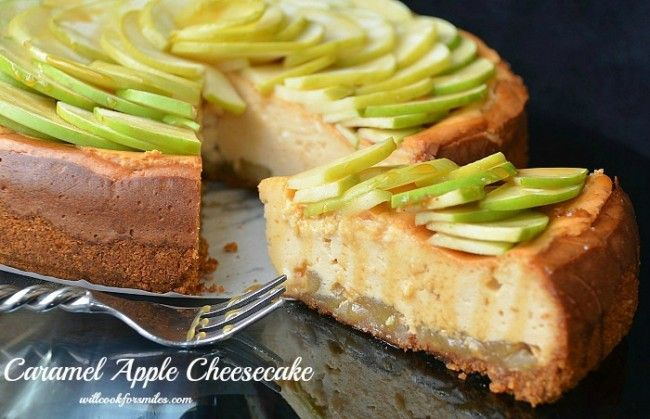 Caramel Apple Cheesecake #cheesecake #dessert @willcookforsmiles
