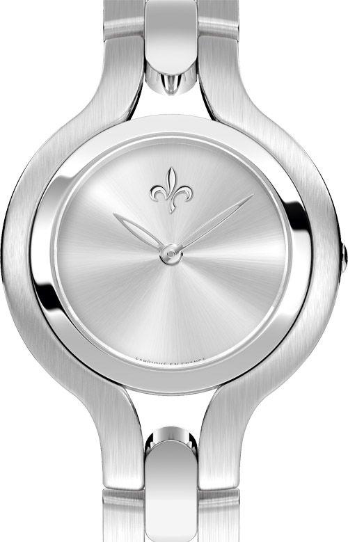 2014433 Pequignet часы Moorea Lady Trocadero - швейцарские женские наручные часы  - стальные с бриллиантами, белые, минимализм