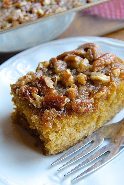 Farmhouse Buttermilk Cake Recipe vThis old-fashioned brown sugar cake derives much of its delightful texture from buttermilk. The nutty pecans and sugar on top are a perfect complement to the moist cake underneath. ttp://ipso-fatto.blogspot.com/2017/03/from-farm-that-shall-remain-nameless.html?utm_source=feedburner&utm_medium=feed&utm_campaign=Feed%3A+IpsoFatto+%28Ipso+Fatto%29#!/2017/03/from-farm-that-shall-remain-nameless.html