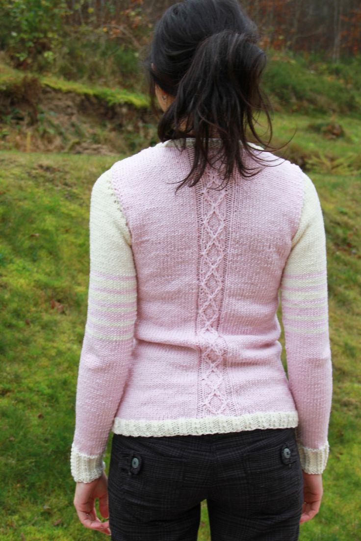 Návod na dámský pletený svetr - pletení vzor