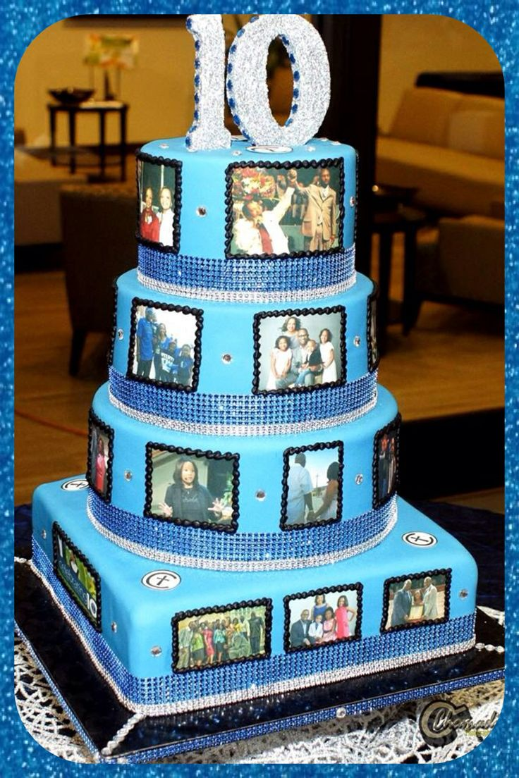 9 Best Images About 10th Anniversary Cakes On Pinterest