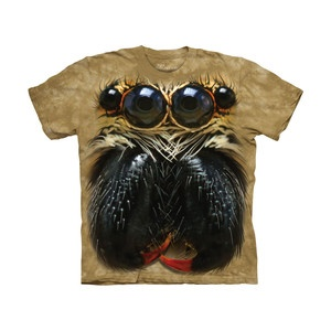 Jumping Spider Face T-Shirt, 19€, now featured on Fab.